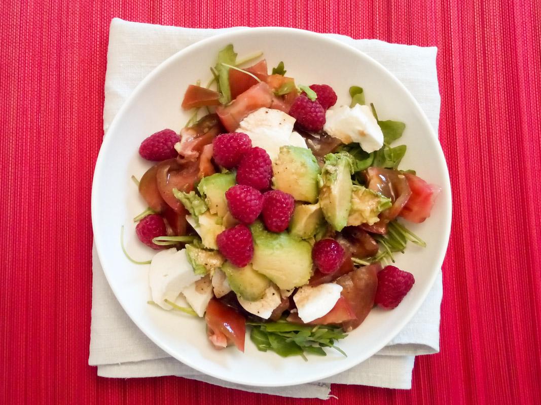 Annvie's - salade de roquette et framboises