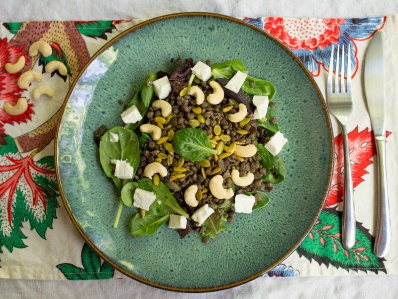 Annvie's - salade croquante de lentilles et feta