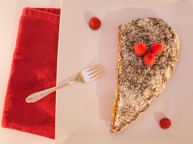 Annvie's - Gâteau noix de coco framboise chocolat
