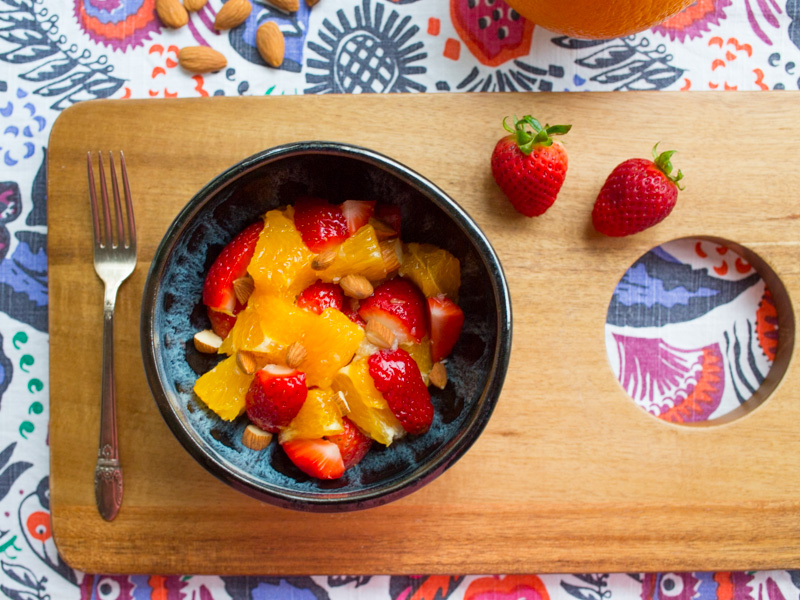 Annvie's - salade orange fraise amande